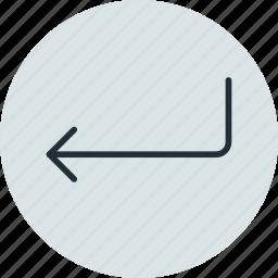 arrow, back, confirm, enter icon