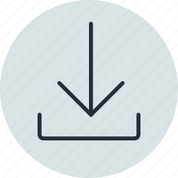 arrow, download, load, sign icon