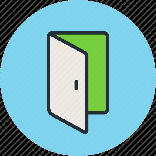 Input, login, enter, door, sign icon