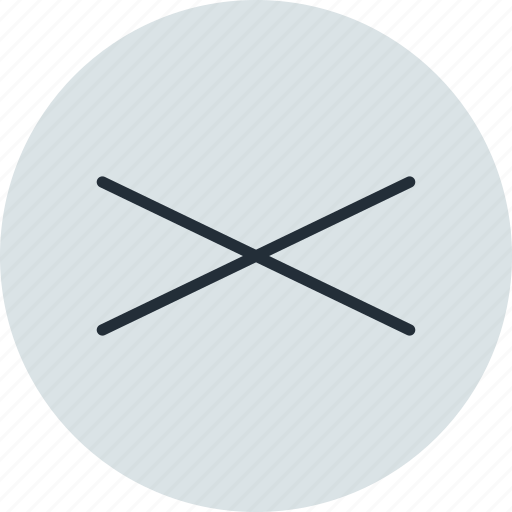 compressed, cross, sign icon