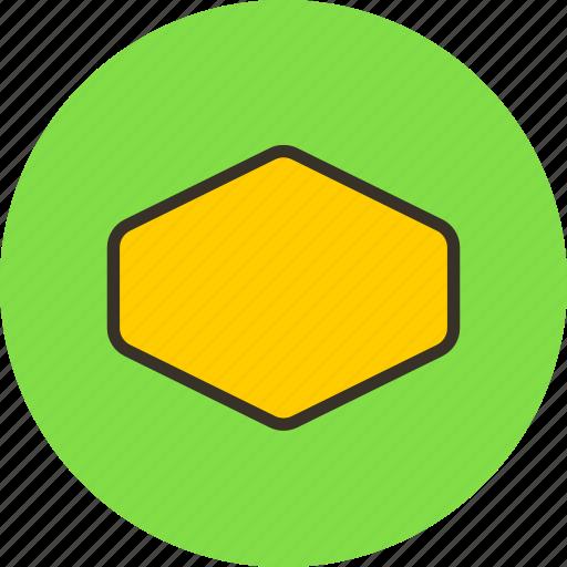 cell, hexagon, label, retro, sign icon