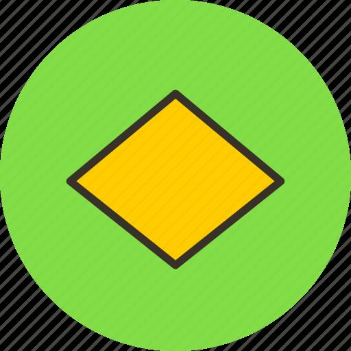 label, rhombus, romb, sign icon
