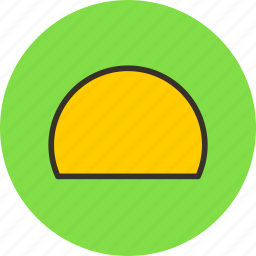 hemicircle, logo, semicircle, sign icon
