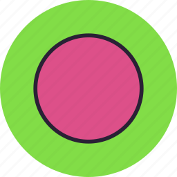 cicrcle, sign, sphere, violet icon