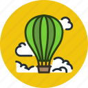 air, baloon, clouds, flight, hot, sky icon