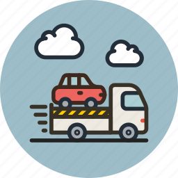 car, delivery, evacuator, transport, truck icon