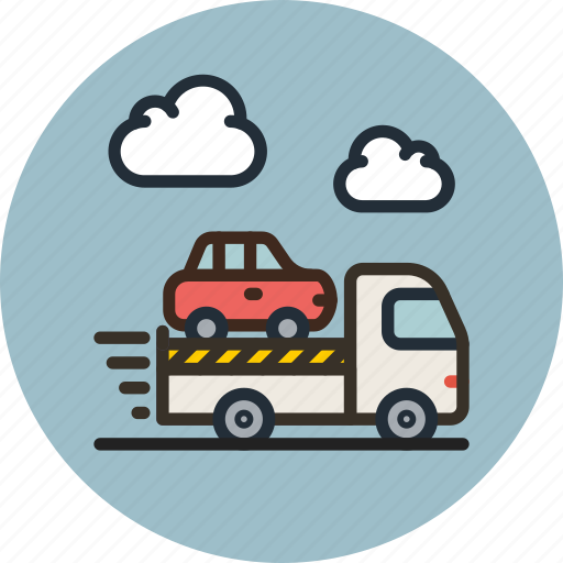 car, delivery, evacuator, transport, truck icon