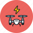 airdrone, copter, drone, flying, power, quadcopter icon