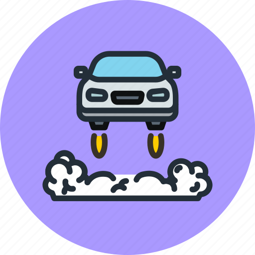 Car, future, transport, flying icon