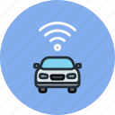 car, signal, transport, wifi icon