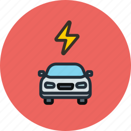 car, charge, electric, power, transport icon