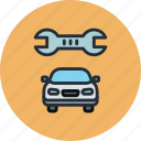 auto, car, maintenance, repair, service, transport icon