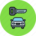 car, key, locked, secure, transport icon