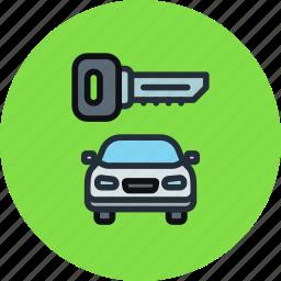car, key, locked, secure, transport icon
