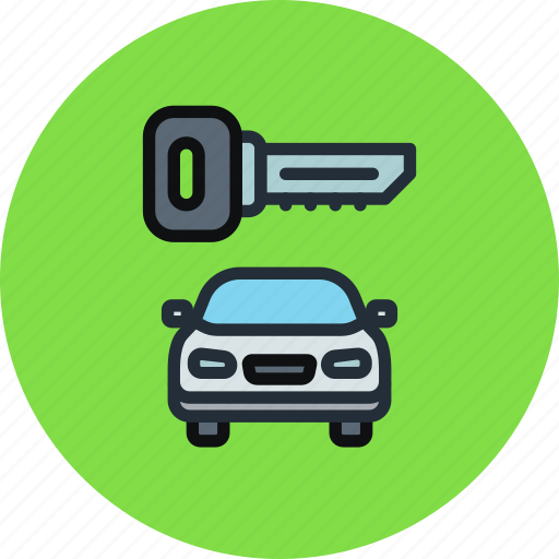 Car, locked, secure, key, transport icon