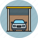 car, garage, transport icon
