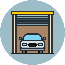 car, garage, transport icon