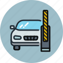 barrier, car, open, transport icon