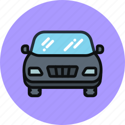 auto, car, front, transport, vehicle icon