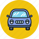 auto, beetle, car, front, transport, vehicle icon