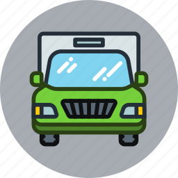 auto, cargo, front, transport, truck, vehicle icon