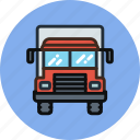 cargo, delivery, front, transport, truck icon