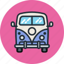 car, combi, hippy, mini, transport, vacation, van icon