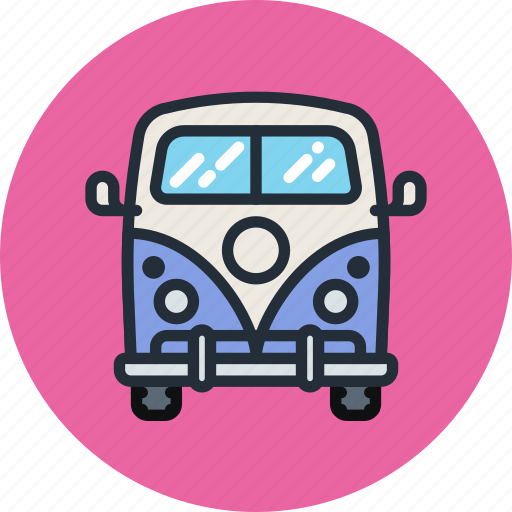 car, combi, hippy, mini, transport, vacation, van icon