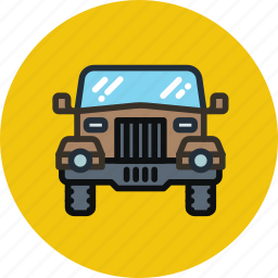 car, jeep, safari, transport icon