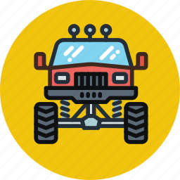 front, monster, transport, truck icon