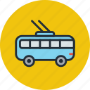transport, trolley bus, vehicle icon