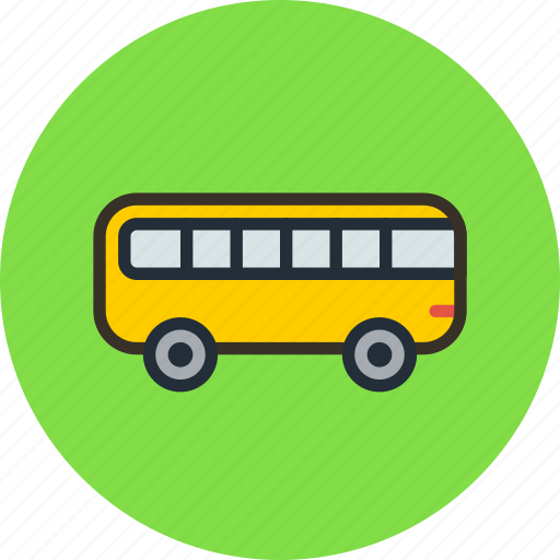 autobus, bus, icojam, transport, vehicle icon