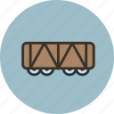 railroad, train, vehicle, wagon icon