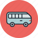 bus, minibus, transport, vehicle icon