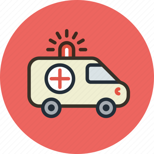 ambulance, car, red cross, transport icon