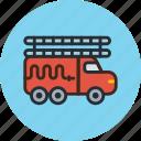 transport, truck, fire engine