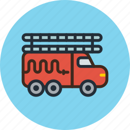car, fire, transport, truck icon