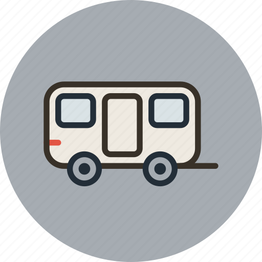 car, caravan, trailer, transport, travel, wagon icon