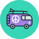 combi, hippy, vacation, van, truck