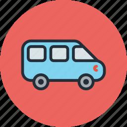 car, minivan, transport, vehicle icon