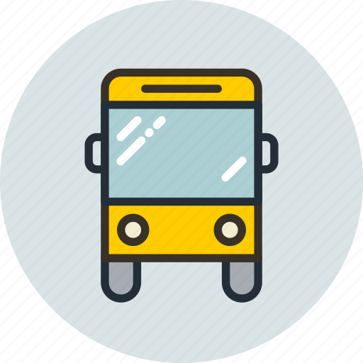 autobus, sign, transport, vehicle icon