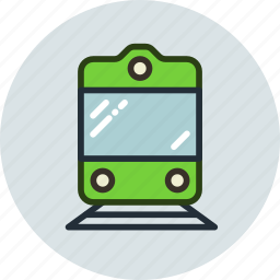 railway, sign, transport, vehicle icon