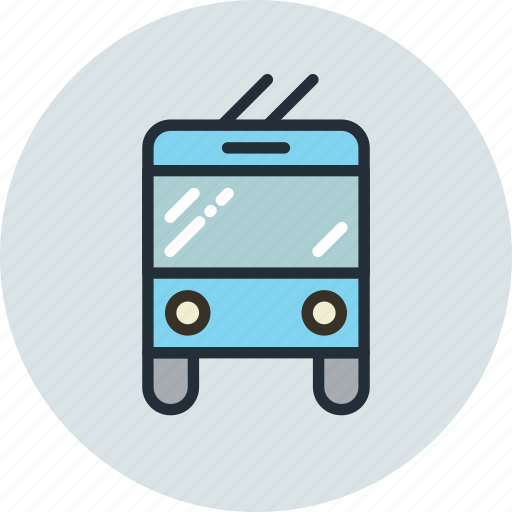 bus, sign, transport, trolley icon