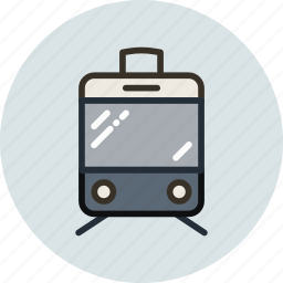 sign, tramway, transport, vehicle icon