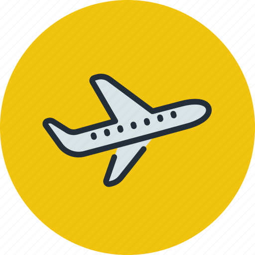 airliner, plane, sky, takeoff, transport icon