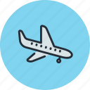 airliner, landing, plane, sky, transport icon