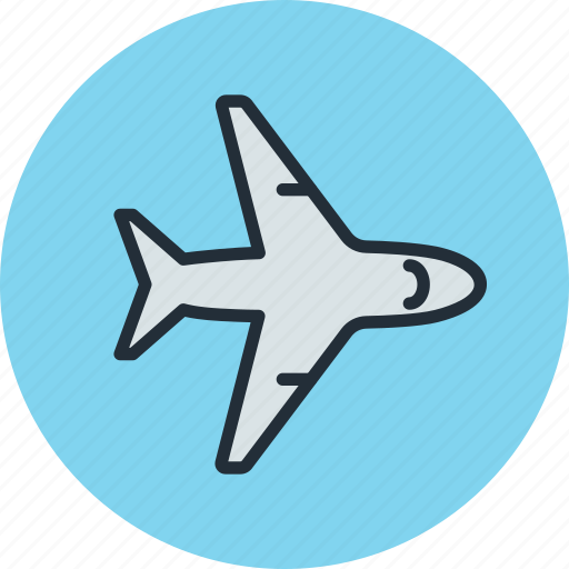 airliner, plane, sky, transport icon