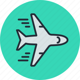 airliner, flying, plane, transport icon