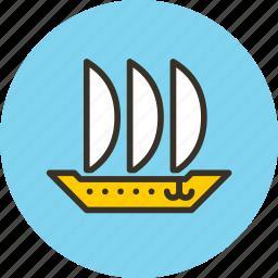 argosy, keel, sailfish, ship icon