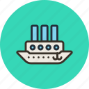 ship, steamboat, steamship, vessel icon